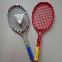Set raket badminton bulu tangkis plastik mainan anak