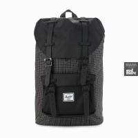 ORIGINAL Herschel Little America Mid-Volume Backpack Black Grid