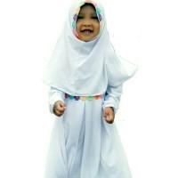 gamis anak / baju muslim anak perempuan manasik haji warna putih