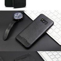 Leather Stitching Premium Case For Samsung S8