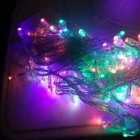 Lampu Natal/Lampu Tumblr/Lampu Hias Led 100 Led 10 Mtr RGB Warna warni