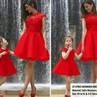 couple dress ibu dan anak tasya cherry natal Limited Edition