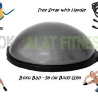 Terbaru 2017/18 Bosu Ball - Balance Ball Grey Body Gym Berkualitas