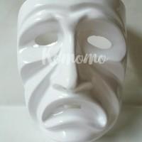 (Diskon) Sad Emoticon Mask / Topeng Emoticon Sedih - Halloween Mask