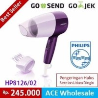 Philips HP 8126 Hair Dryer 400 Watt Nozel Corong Sikat philip drayer