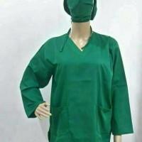 Seragam Jaga Perawat / Baju OK Wanita Lengan Panjang Uk. S M L XL XXL