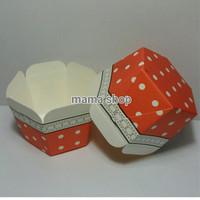 Papercup Roti Cupcake Bolu Kue Box Karton model segiempat