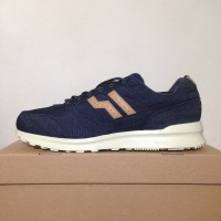 Sepatu Casual Piero Jogger Denim Navy Tan Off White P20061 Original