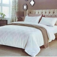 BED COVER KING KOIL SUTRA UK.230X240CM WHITE SQUARE