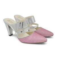 Jual HEELS PREMIUM - Sandal Sepatu Pesta Wanita jv High Heels Pink Branded Murah
