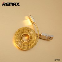 Kabel Data Remax Gold Micro USB Braided for Smartphone Android