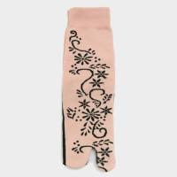 kaos kaki wanita muslim warna kulit tato hena motif bunga fse097 T301