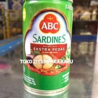 ABC Sardines Saus Ekstra Pedas 155g   Ikan Sarden Saos Kaleng 155 g gr