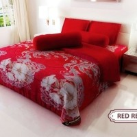 BEDCOVER KINTAKUN ASLI 160 RED RETRO 160X200 queen size no. 2
