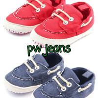 PW55 - Prewalker tali jeans baby shoes sepatu anak bayi