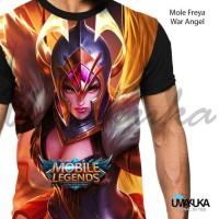 Harga kaos mobile legend freya war angel hero diamond upgrade 3d   antitipu.com