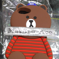Case 4D Brown Fashion ASUS ZF 4 MAX /Karakter/Soft/Silikon/3D/Rubber