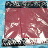 jilbab rawis saudia segi empat warna merah