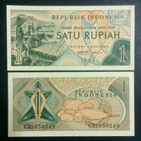 Uang Kuno 1 Rupiah Seri Sandang Tahun 1961 UNC