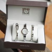 jam tangan anne klein set gelang