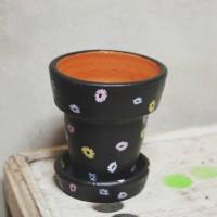 Pot Terracotta-Pot Tanah Liat-Diameter 8 cm-Pattern 2