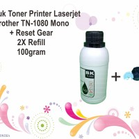 Serbuk Toner Printer Laserjet Brother TN-1080 2x Refill Mono 100gram