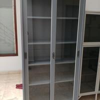 Jual Lemari Plat Besi Import Pintu Geser Full Kaca ukuran ...