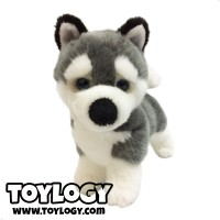 Boneka Hewan Anjing Husky - Siberian Husky Stuffed Plush Dog Doll