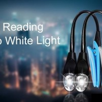 MINI FLEXIBLE CLIP-ON BOOK LIGHT LAPTOP LED/ Mini LED serba guna