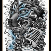 Tato/Tatto temporary/Tatto punggung/ 36x48 cm MB007