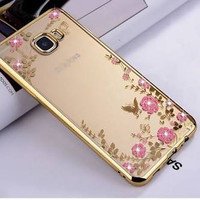 Samsung galaxy c7 pro flower soft case