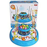 Mainan Anak Memancing Ikan Fishing Game 2 Kolam 4 Kail Pancing Fish