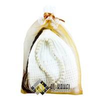 Parcel Souvenir Peci Rajut Serut Hitam dan Putih Tasbih