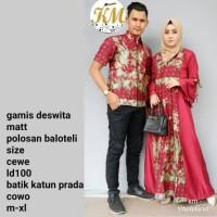 batik couple gamis deswita