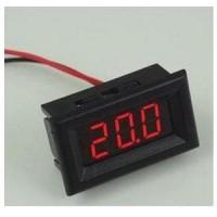 Red Mini DC 2.5-30V LED Panel Voltage Meter 3 Digit Display Voltmeter