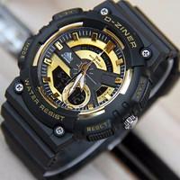 Jam tangan pria original anti air d ziner gshock casio diesel GOLD