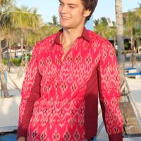 Kemeja Batik Pria Tenun Endek Bali 5