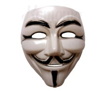 Black Ash Mask V For Vendetta Guy Fawkes Anonymous / Topeng Anonymous
