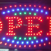 Tulisan Lampu Led Sign Display OPEN toko Merah 2 Layer KEDIP - MURAH