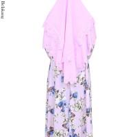 GKS-1578 Gamis Muslimah Syari Jumbo Spandek Jersey Set Hijab