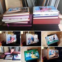 Cetak album kolase wedding cover full foto box std