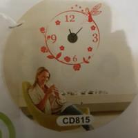 (Clearance Sale) CD815 Jam dinding wall sticker DIY Clock