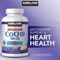 Kirkland max CoQ10 300mg 100 softgel coenyzme q10 / coQ 10