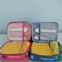 Tupperware Paket Bekal Happy Days +tas + Cutlery Bekal Anak