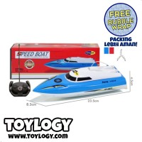 Remote Radio Control RC Kapal Speed Boat Main di Air - Free Bubble