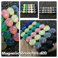 Bros magnet pin hijab D20 murah cantik mewah Murah