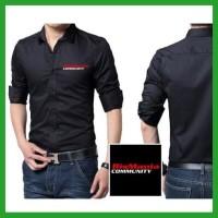 Baju Kemeja Bismania Community 1 Distro Pria BSMNC01 untuk kerja / jal