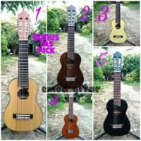 gitar mini / guitar akustik / gitar kecil / guitalele free softcase