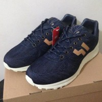 Terbaru Sepatu Casual Piero Jogger Denim Navy Tan Off White P20061
