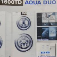 AQUA FQW-1600TD Mesin Cuci Laundry Duo Front Loading FQW1600TD 16Kg